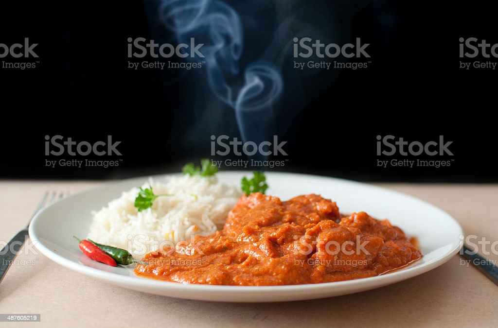 Hot curry stock photo