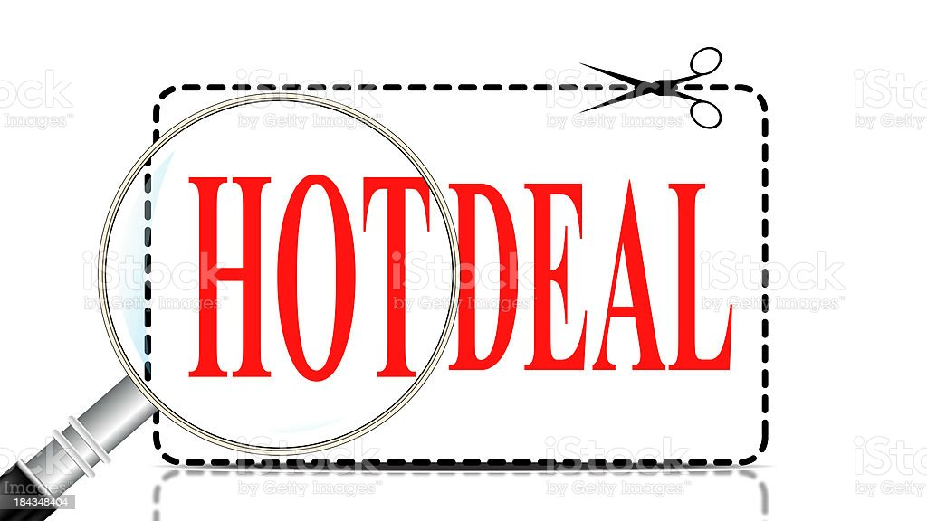 Hot Deal | Coupon Search royalty-free stock photo