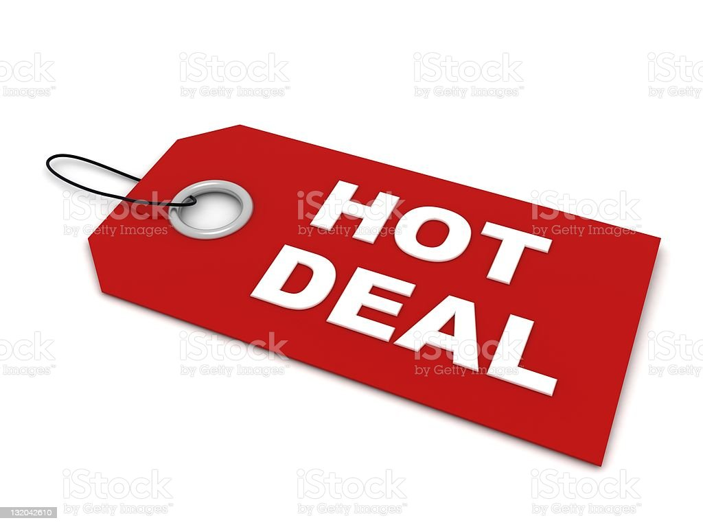 Hot Deal royalty-free stock photo