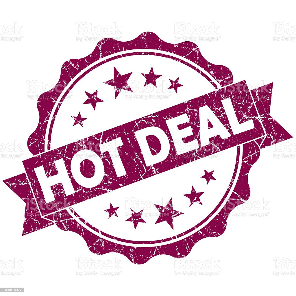 hot deal red round seal royalty-free stock photo