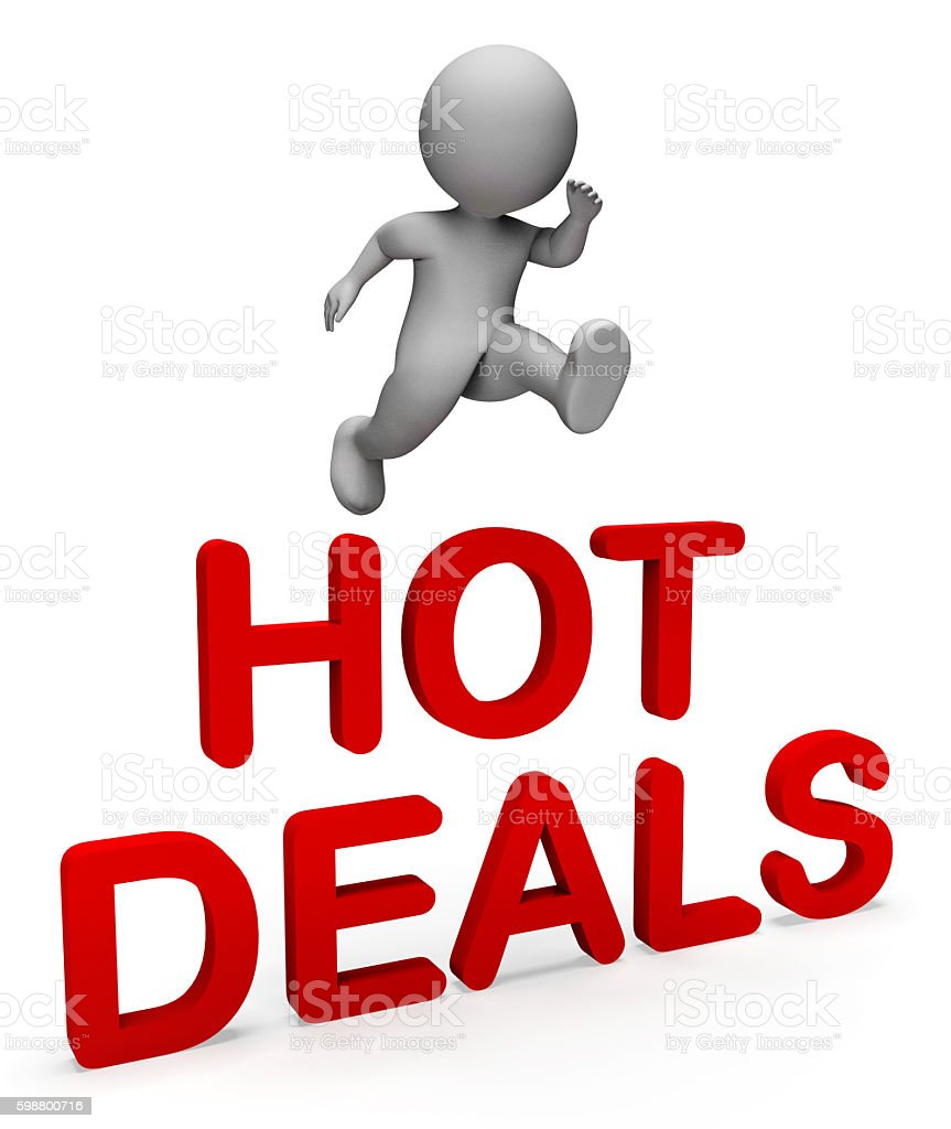 Hot Deals Shows Top Notch And Bargain 3d Rendering stock photo
