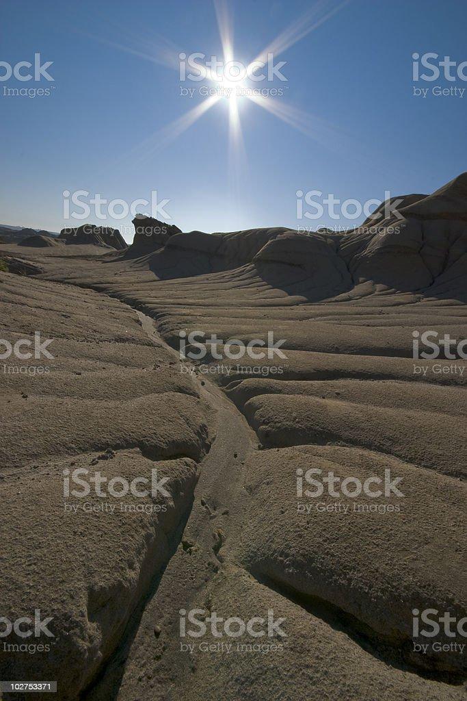 hot desert stock photo