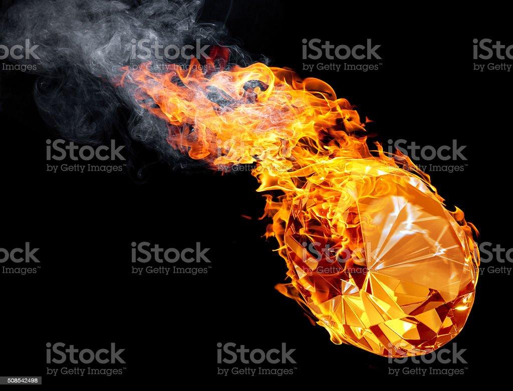hot diamond stock photo