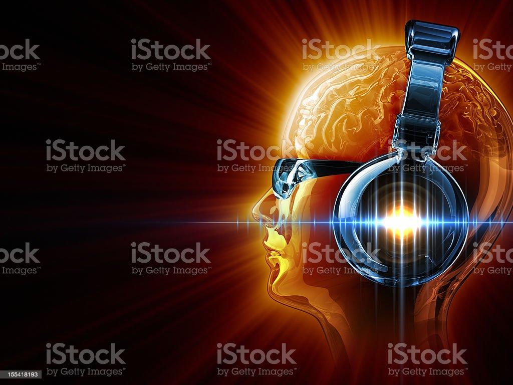 Hot DJ stock photo