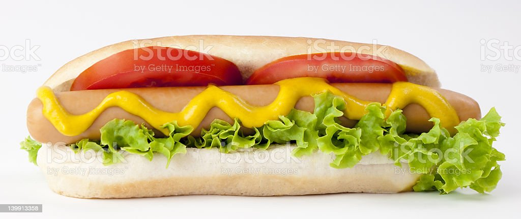 Hot Dog and Drink stock photo