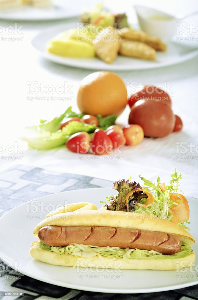 Hot dog and Fries royalty-free stock photo