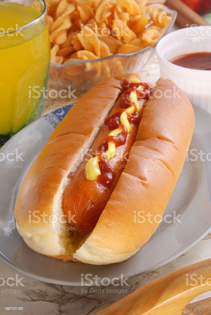 Hot dog bread royalty-free stock photo