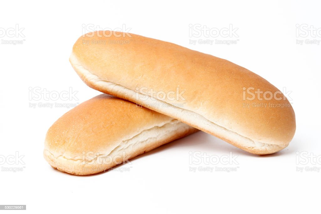 Hot dog bun stock photo