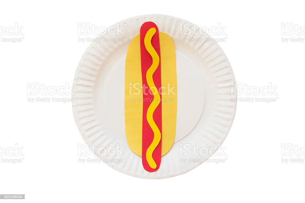 hot dog from a paper stock photo