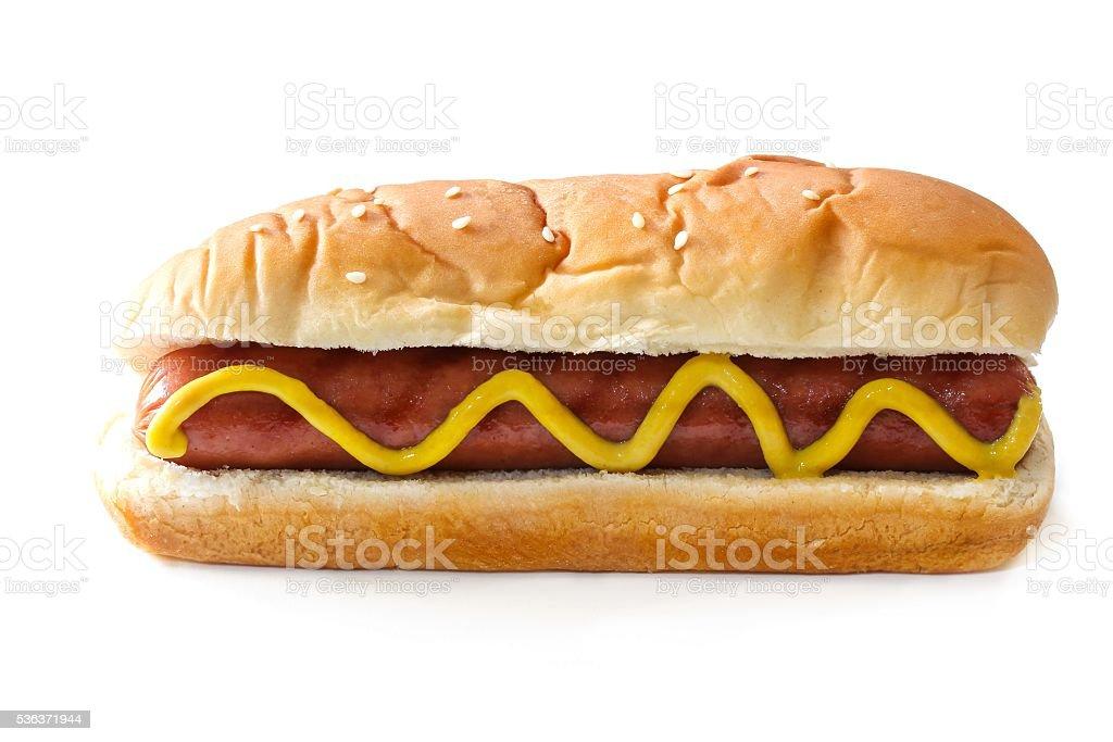 Hot dog isolated on white stock photo