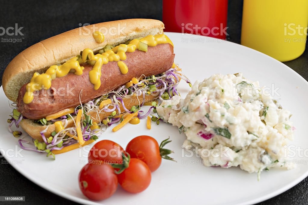 Hot Dog Lunch stock photo