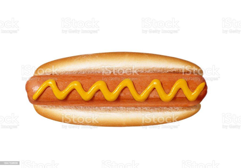 hot dog on white background royalty-free stock photo