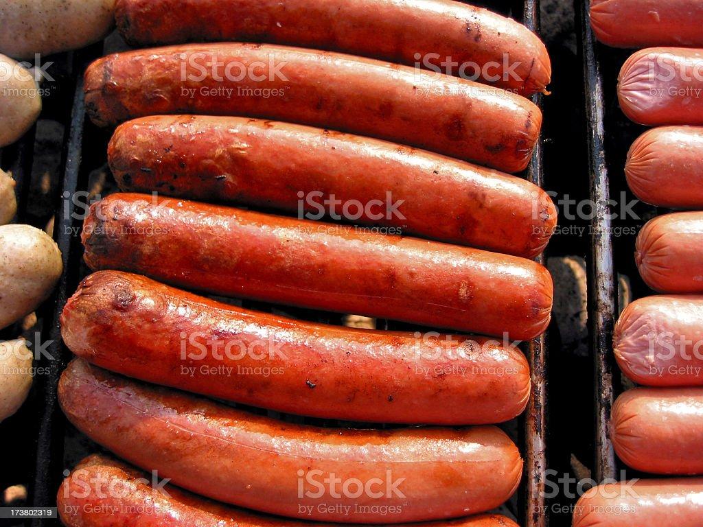 Hot Dog Rows royalty-free stock photo