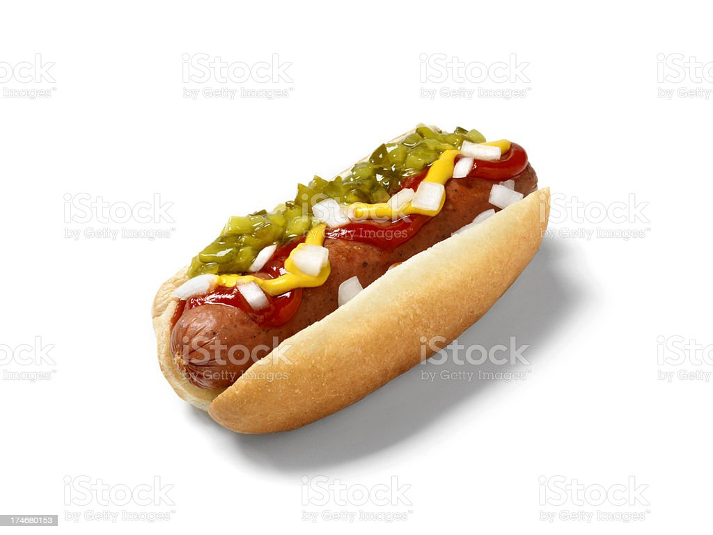 Hot Dog, Smokie royalty-free stock photo