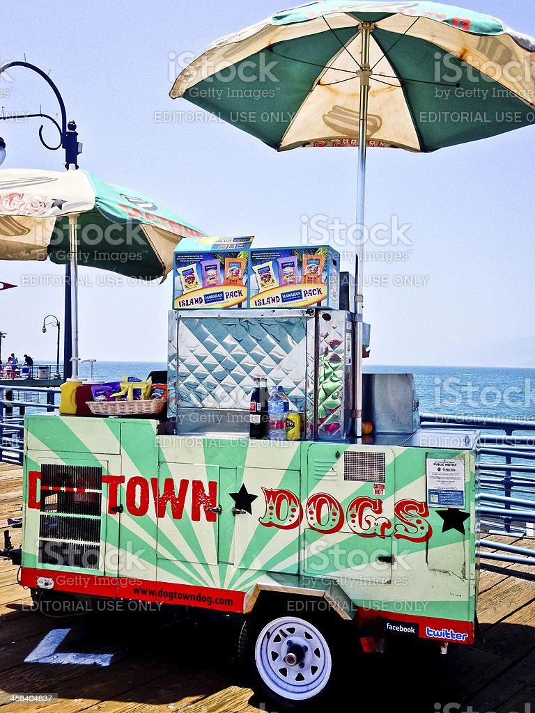 Hot Dog Stand on Santa Monica Pier royalty-free stock photo