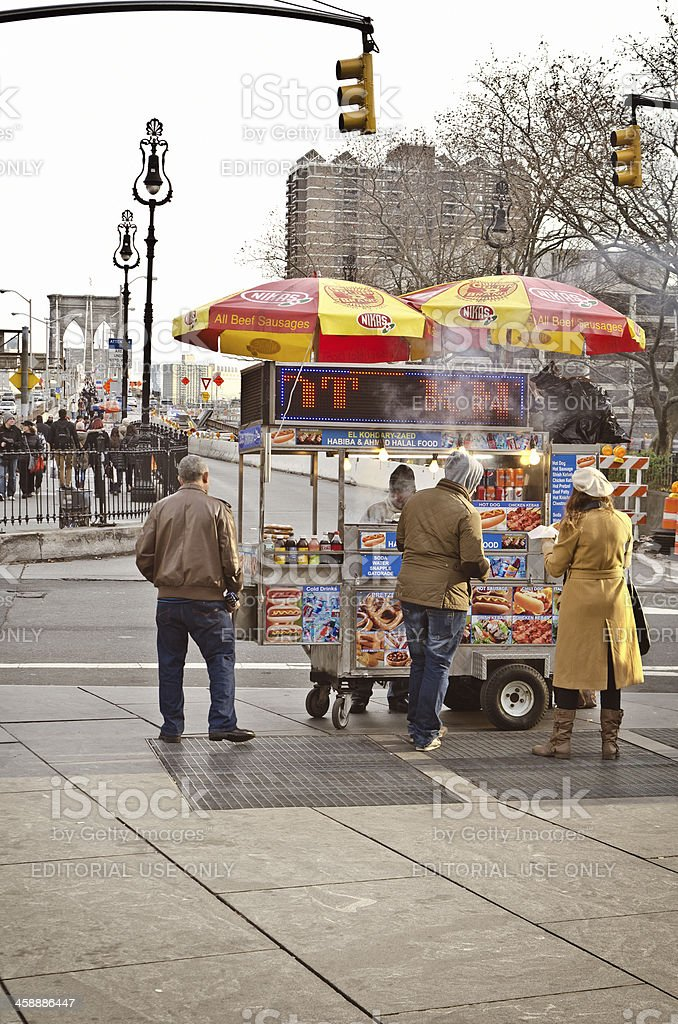 Hot dog stand royalty-free stock photo