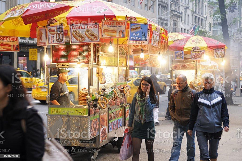 Hot Dog Vendor,NYC royalty-free stock photo
