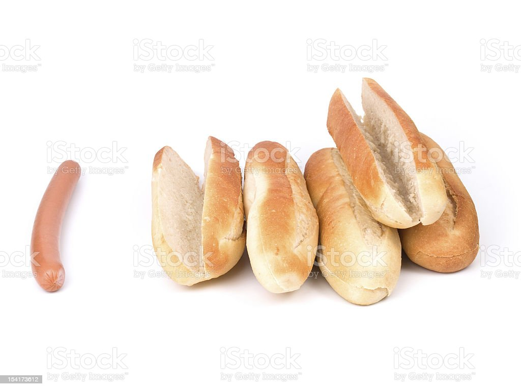 hot dog w clipping path royalty-free stock photo