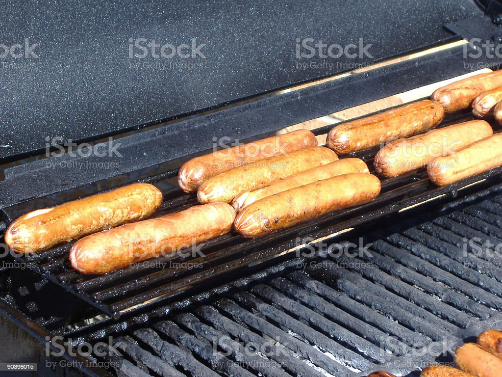 Hot Dogs on the Grill 2 stock photo