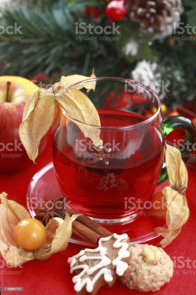 Hot drink for winter and Christmas royalty-free stock photo