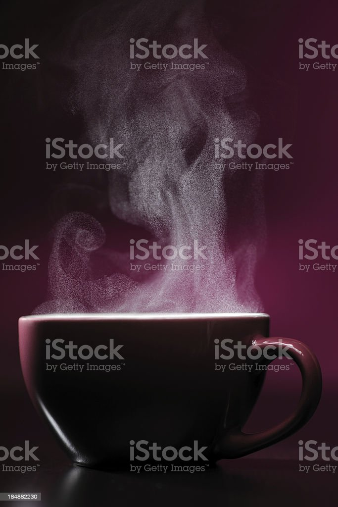 Hot drink with steam stock photo