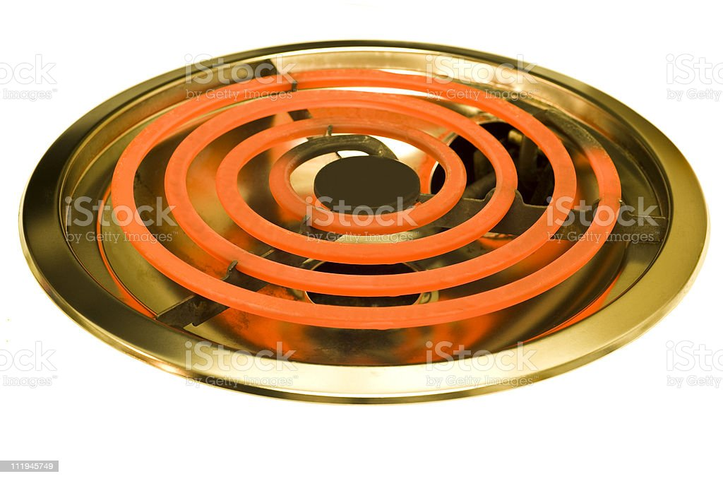 Hot Electric Burner Isolated On White royalty-free stock photo