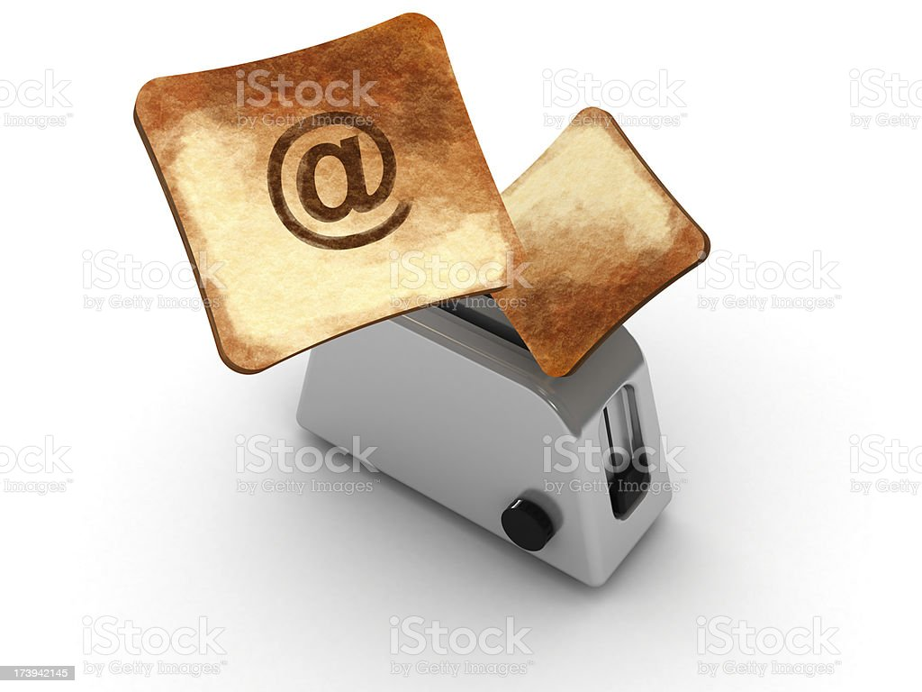 Hot email royalty-free stock photo