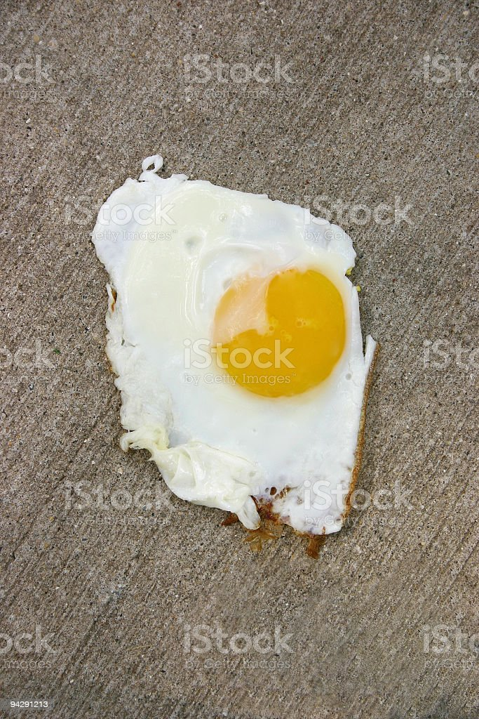 Hot Enough to Fry an Egg on the Sidewalk royalty-free stock photo
