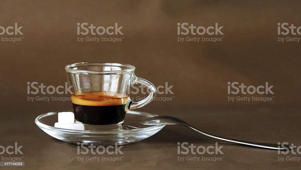 Hot espresso royalty-free stock photo