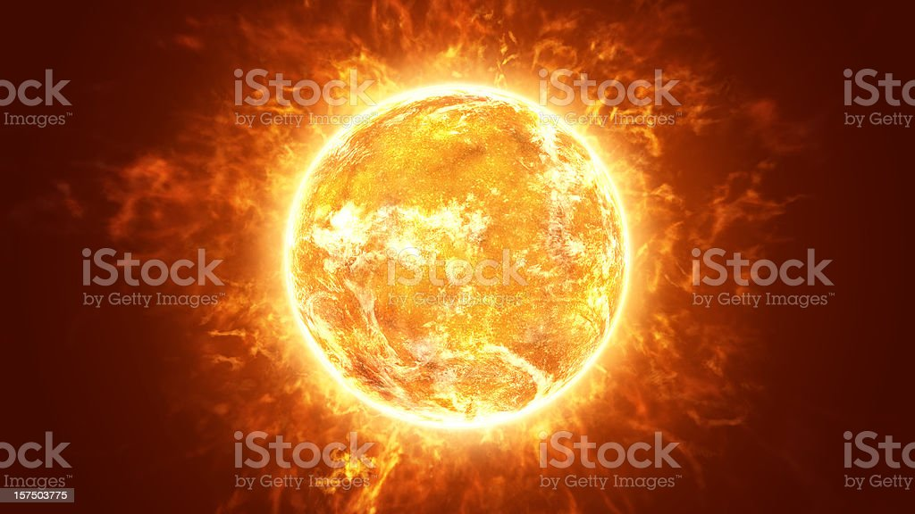 Hot Fiery Sun stock photo