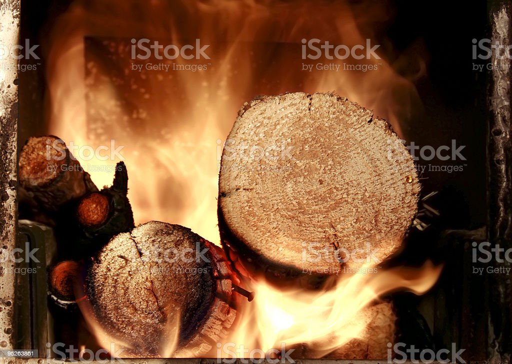 hot fire royalty-free stock photo