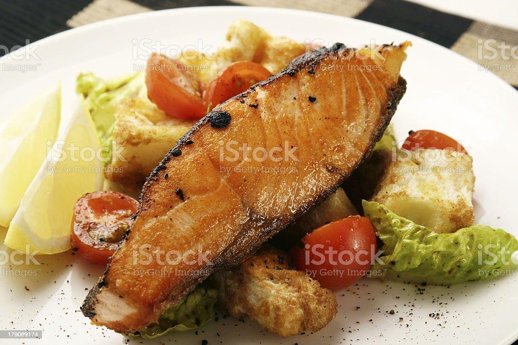 Hot fish dish 2 royalty-free stock photo