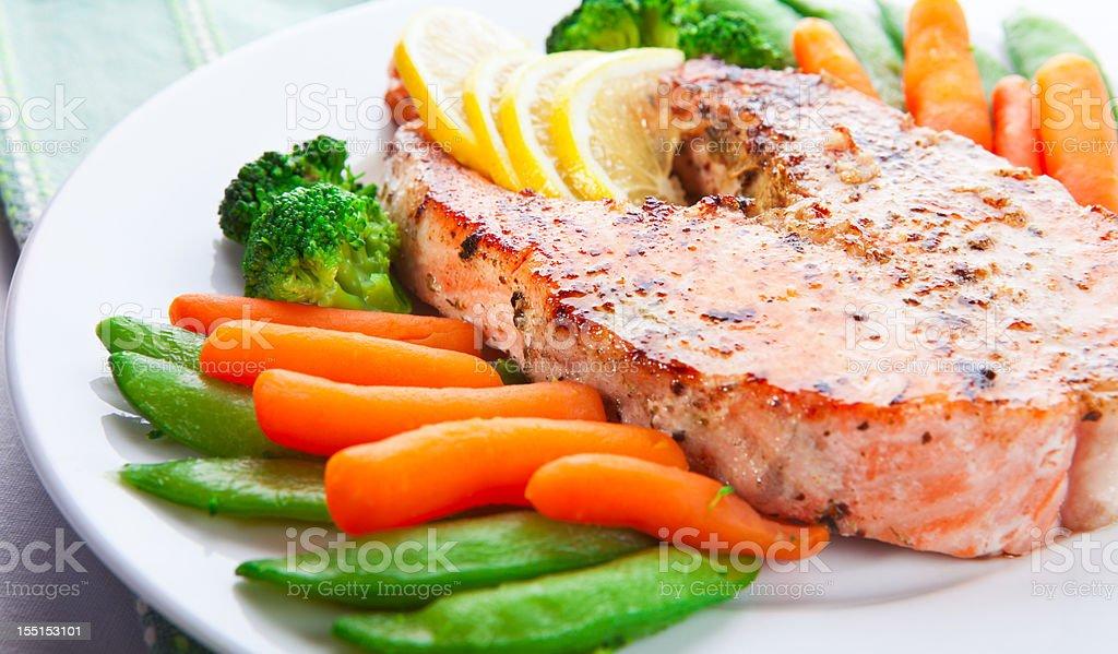 Hot fish dish stock photo