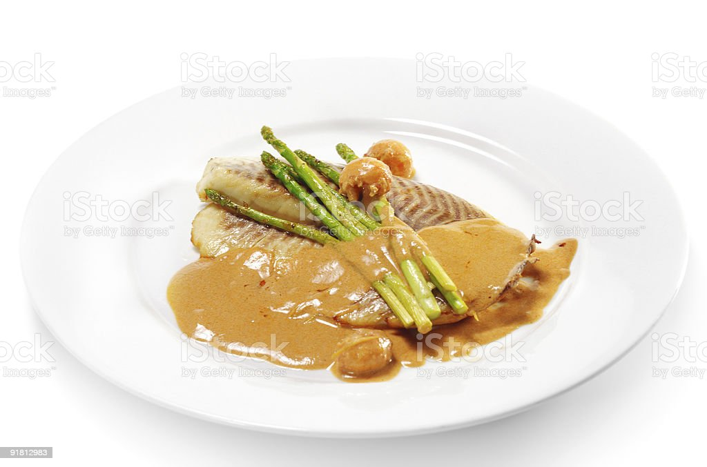 Hot Fish Dishes - Rockfish Fillet royalty-free stock photo
