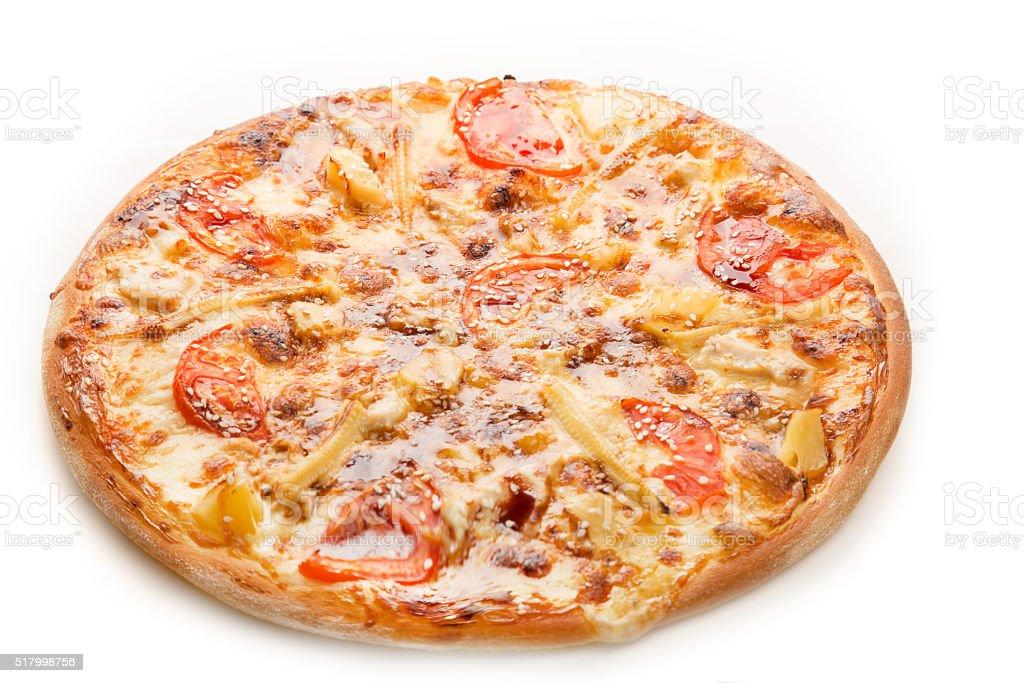 hot fresh pizza stock photo