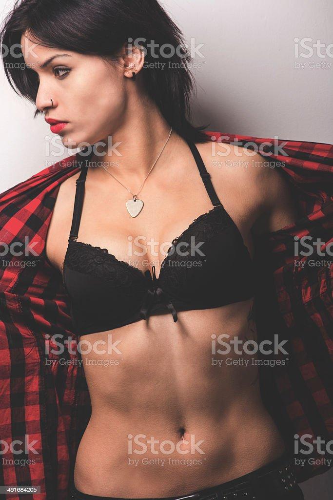 Hot girl posing royalty-free stock photo