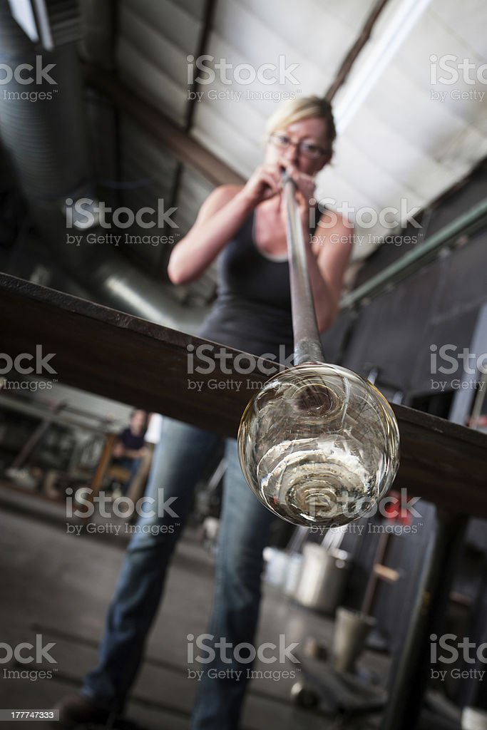 Hot Glass Blowing royalty-free stock photo