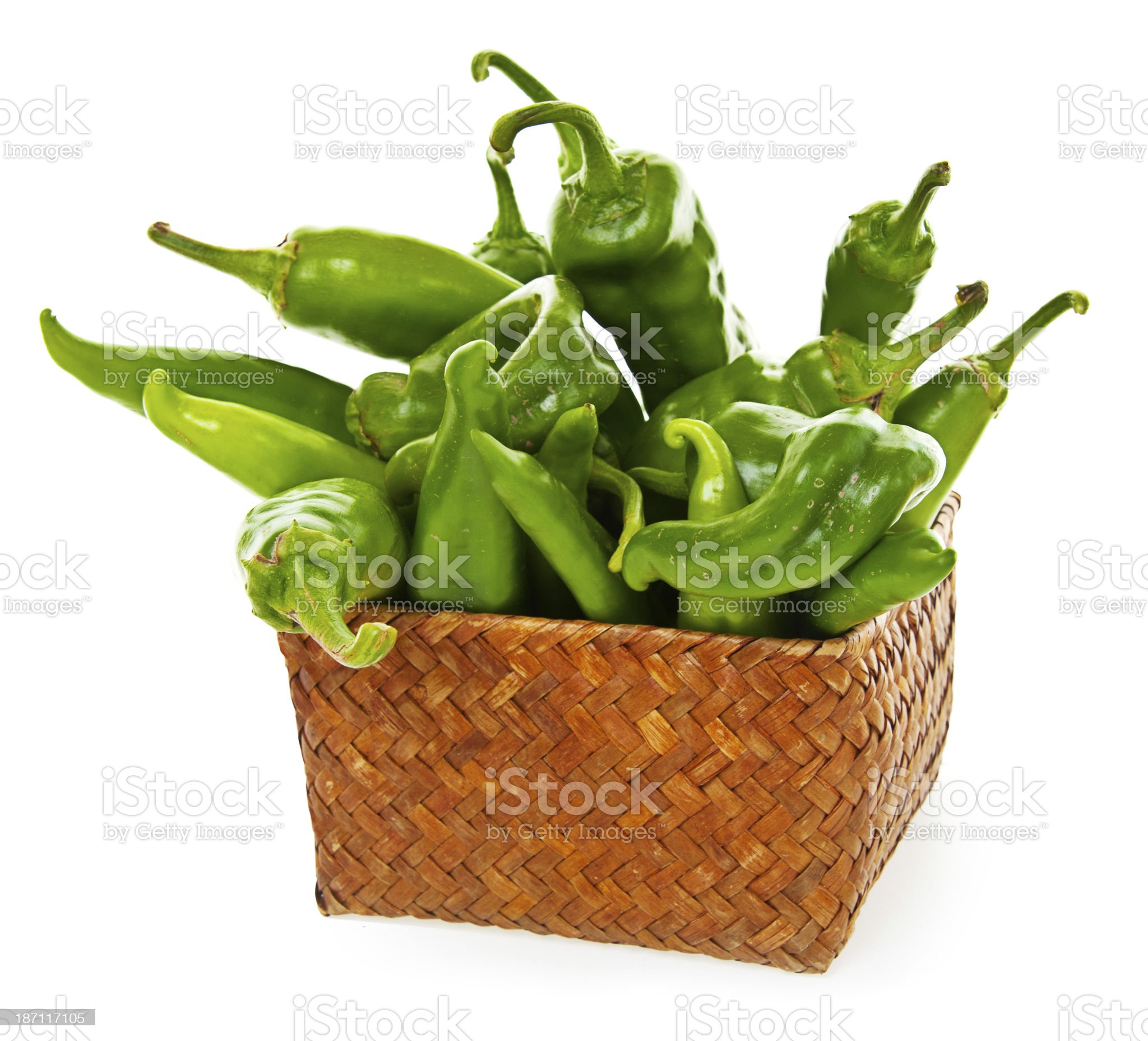Hot Green Chili Peppers royalty-free stock photo
