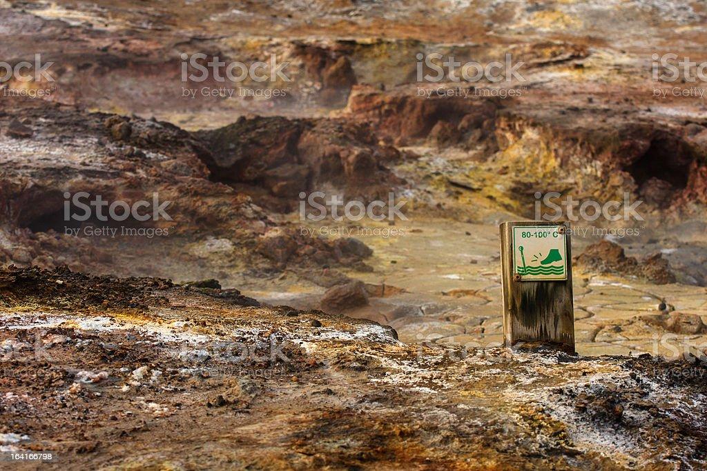 Hot ground warning sign royalty-free stock photo