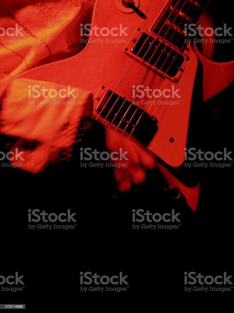 Hot guitar royalty-free stock photo