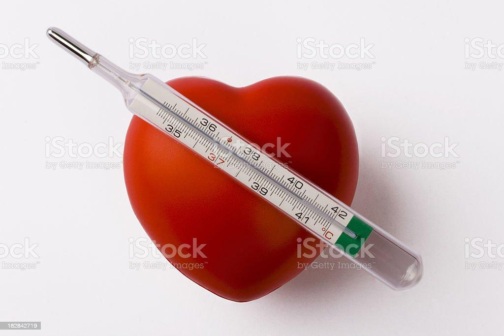 Hot Heart stock photo