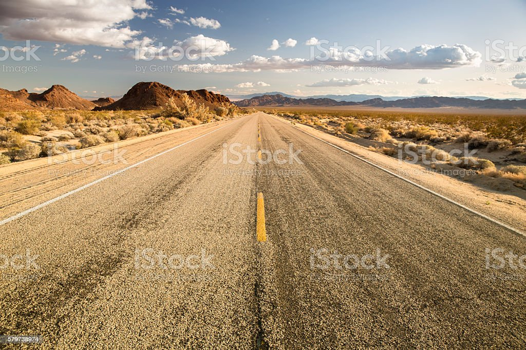 Hot highway in California stock photo