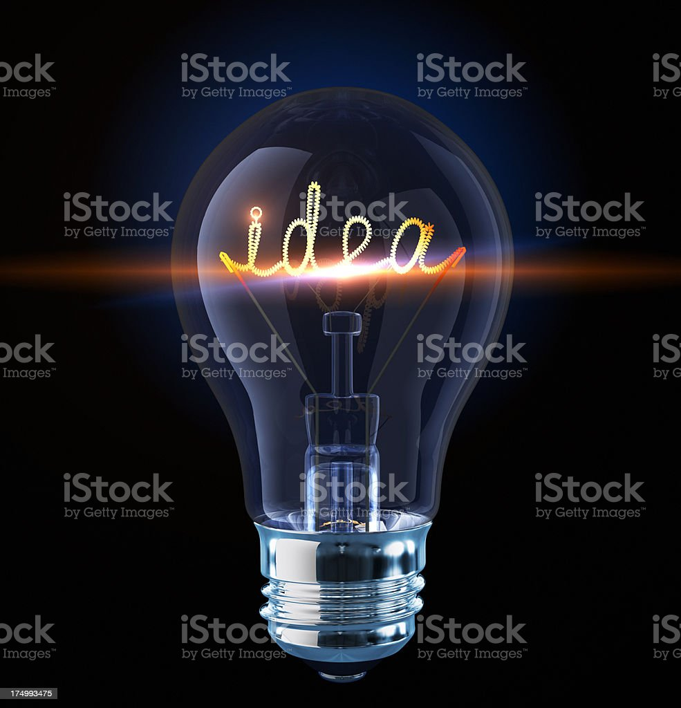Hot idea stock photo