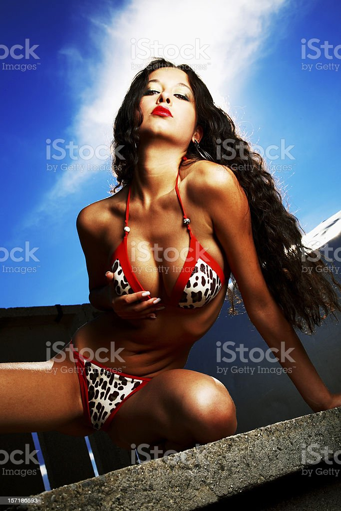Hot in the city stock photo