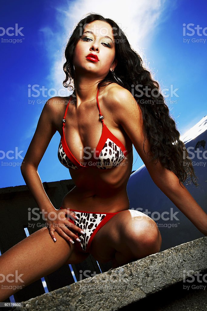 Hot in the city royalty-free stock photo