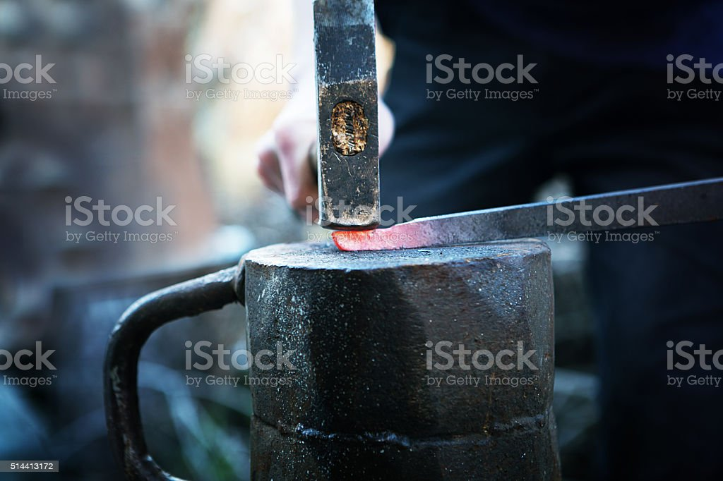 hot iron stock photo