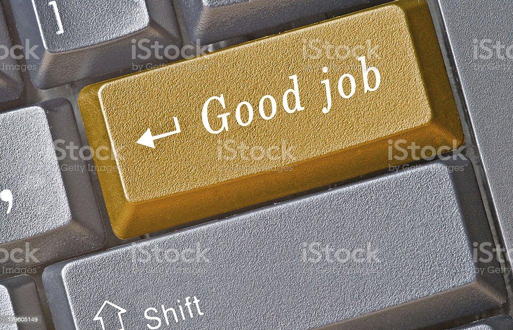 Hot key for access to good job royalty-free stock photo