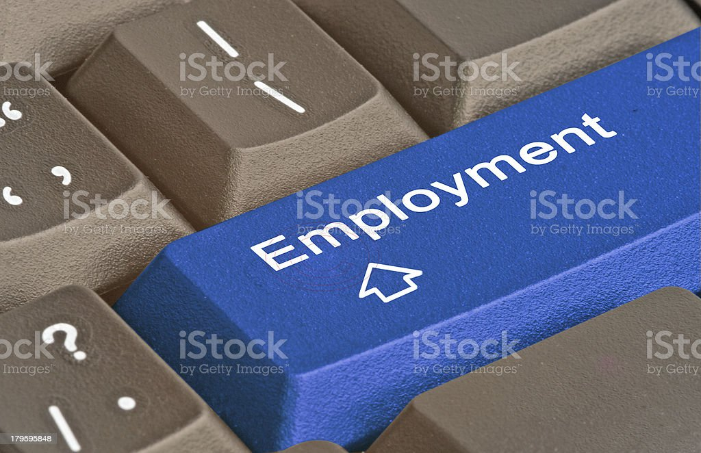 Hot key for employment royalty-free stock photo