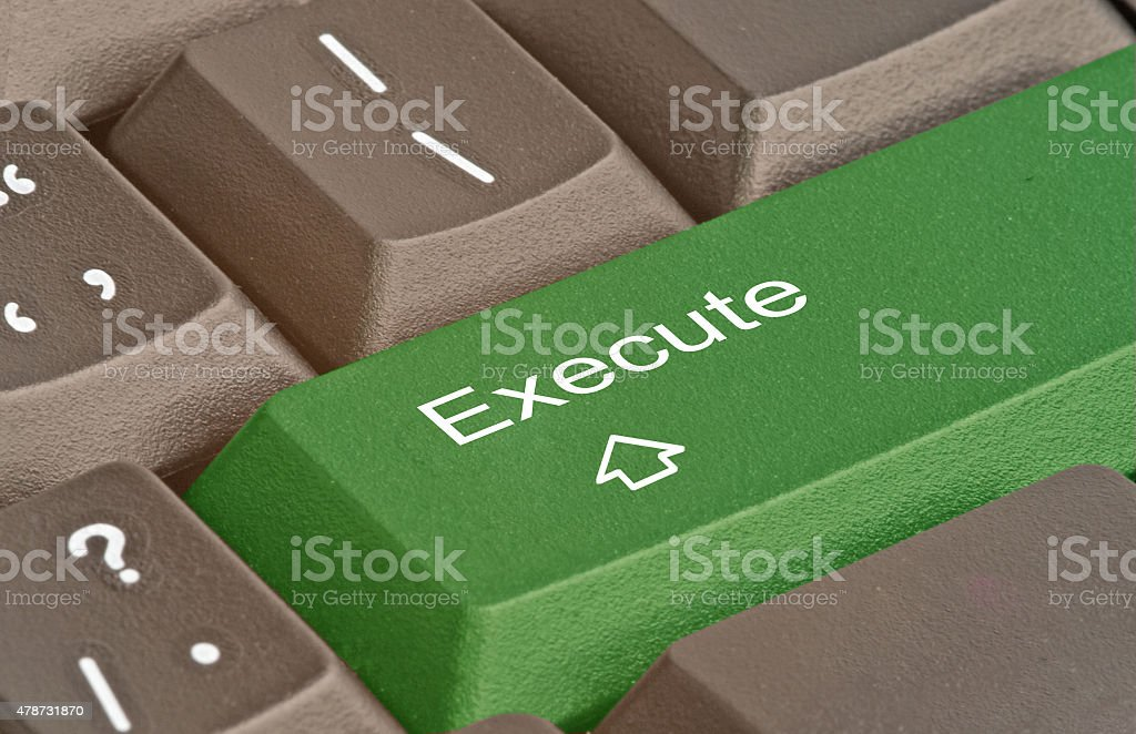 Hot key for execute stock photo