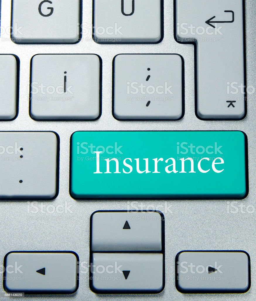 Hot key for insurance stock photo